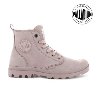 PALLADIUM PAMPA HI ZIP NBK皮革靴-女-玫瑰粉