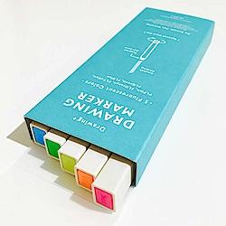 KOKUYO Drawing+方形馬克蠟筆-5色入(螢光色)