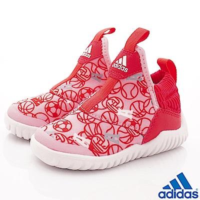 adidas童鞋 超輕量襪套式鞋款 NI6841桃粉(寶寶段)