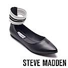 STEVE MADDEN-AMAZE繞踝伸縮帶尖頭平底鞋-黑色