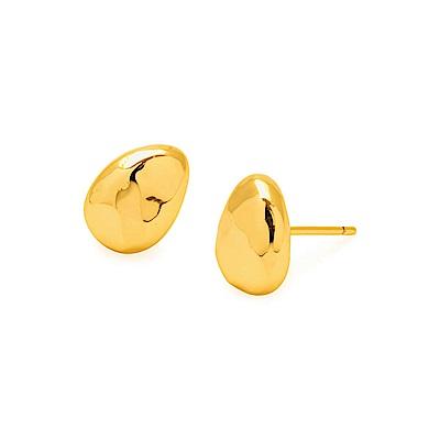 GORJANA 立體金塊耳環 優雅鵝卵石金色耳環 Avery Studs