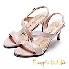 Pineapple Outfitter 美型首選 羊皮繫帶絲質高跟涼鞋-粉色