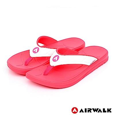 AIRWALK - A0夾腳拖鞋-女款-果紅