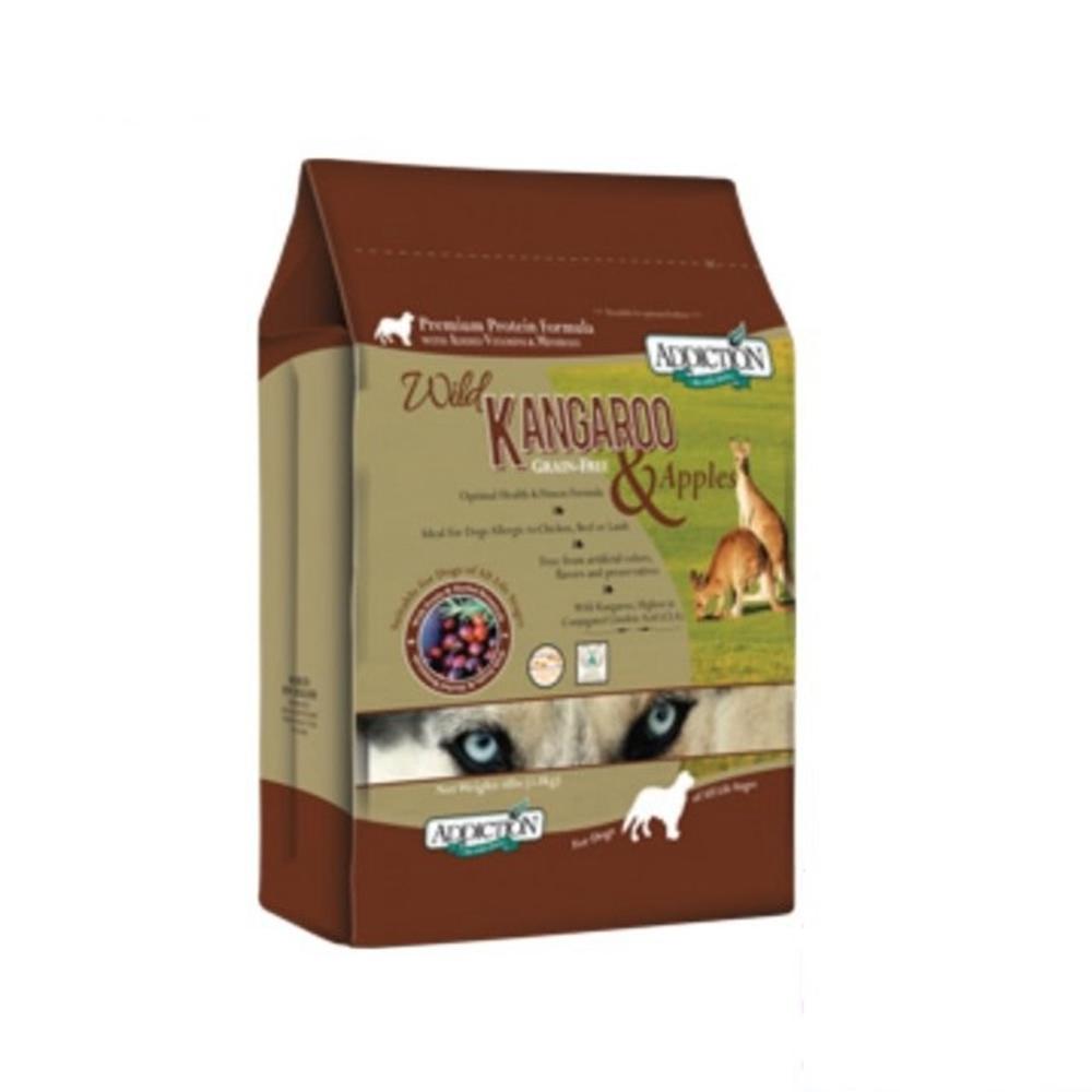 紐西蘭-ADDICTION自然癮食 野生袋鼠肉&蘋果無穀犬寵食 1磅/454公克 兩包組