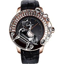 Galtiscopio迦堤 童真木馬系列 創作夢幻手錶-玫塊金框/50mm