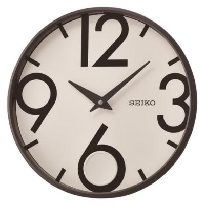 SEIKO 精工 時尚空間搖動擺錘掛鐘(QXC239K)-白/33cm