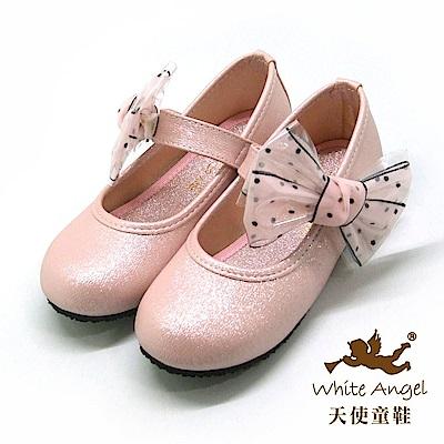 天使童鞋 清新女孩公主鞋(中-大童) J919-粉