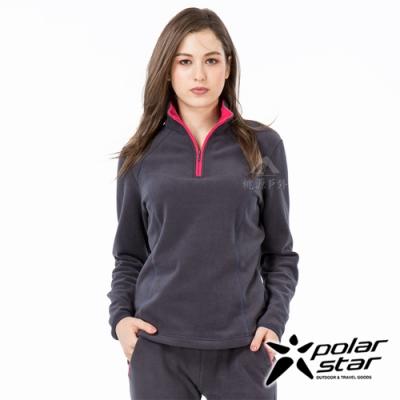 PolarStar 女 高領拉鍊保暖衣『深藍』P19208
