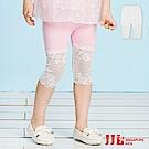 JJLKIDS 甜美蕾絲拼接內搭六分褲(2色)