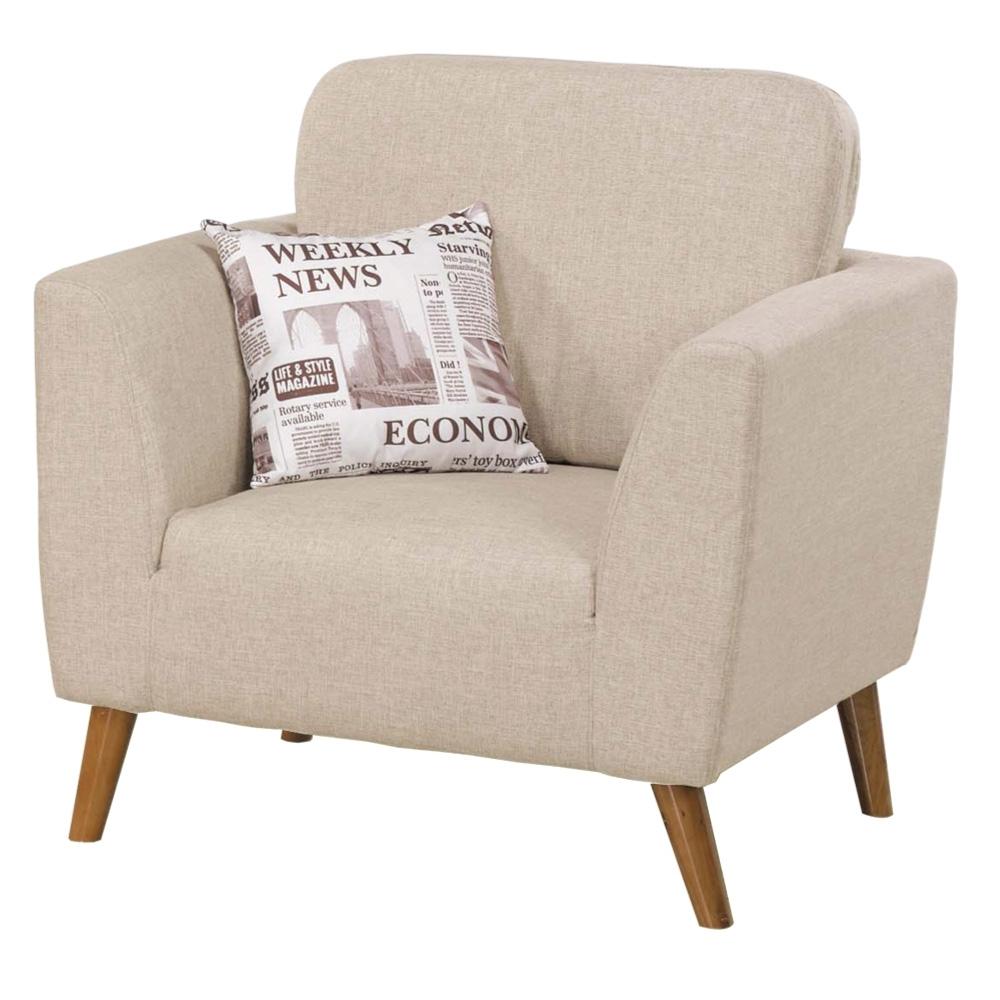 文創集 拉索時尚亞麻布單人座沙發椅-89x80x70cm免組