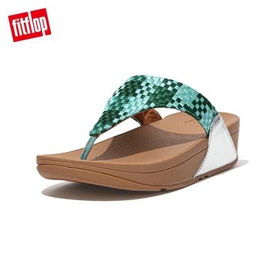 FitFlop LULU SILKY WEAVE TOE-POST SANDALS 經典舒適夾腳涼鞋-女(薄荷綠)