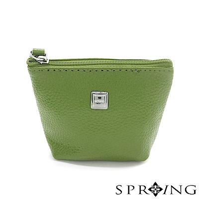 SPRING-特價-微風城市鑰匙圈零錢包-森林綠