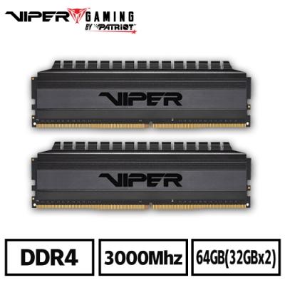 VIPER美商博帝 VB4 DDR4 3000 64GB(2x32G)桌上型記憶體