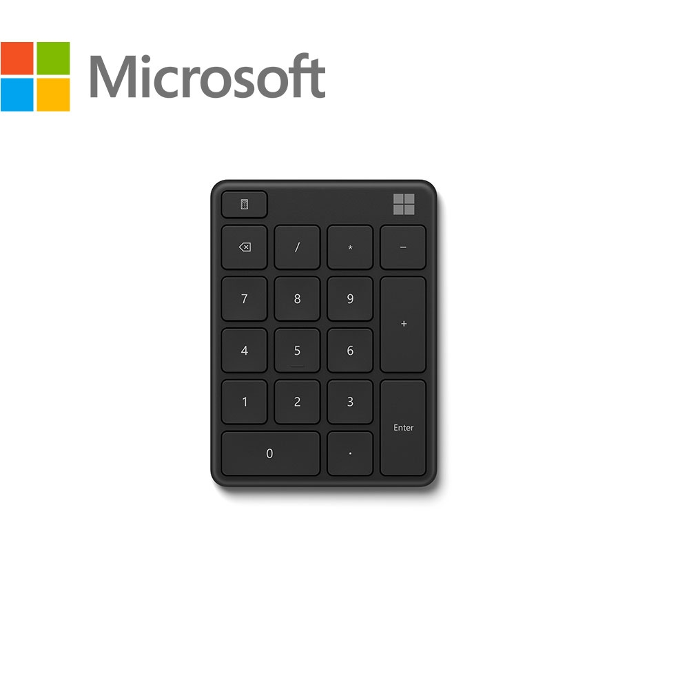 微軟藍牙數字鍵盤-霧光黑
