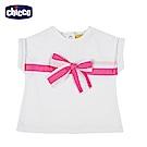 chicco-夢幻花園-短袖上衣-白