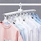 [aiken]多功能八連勾伸縮曬衣架