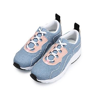 BuyGlasses 歐美拚色縫線運動鞋-藍