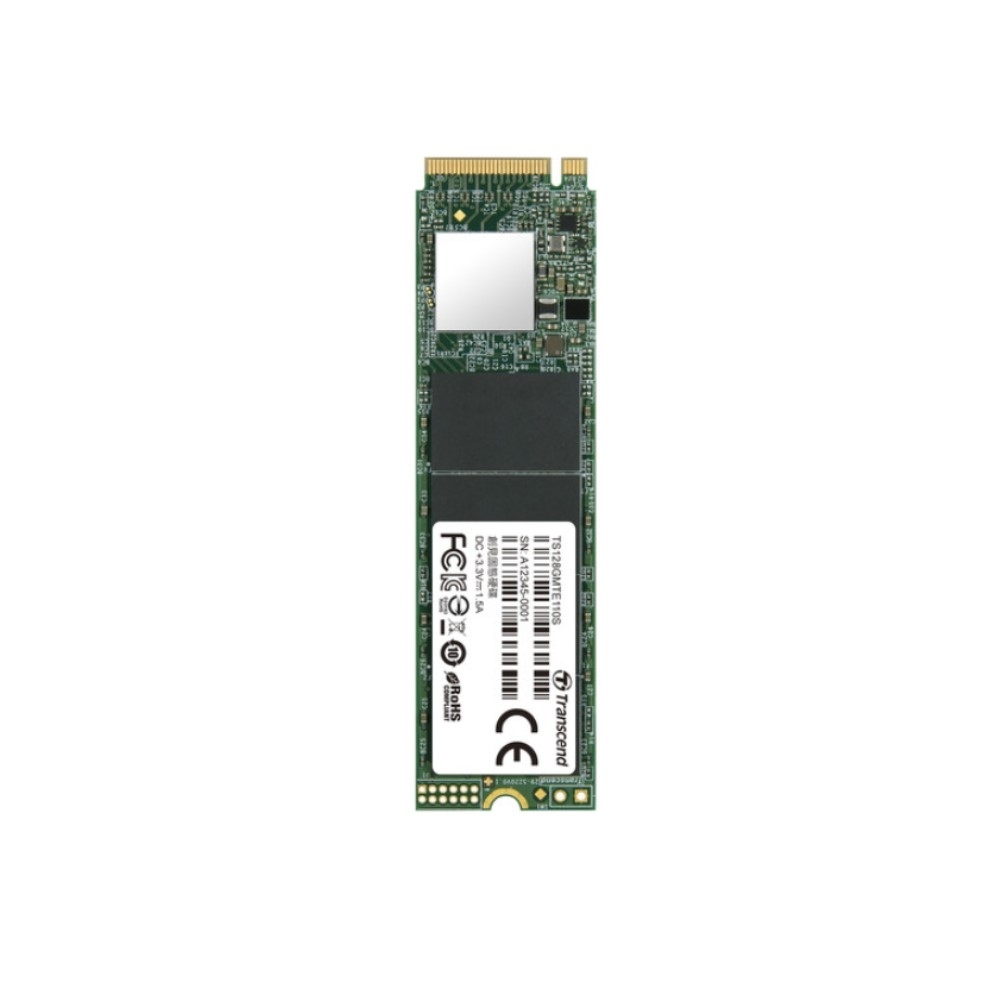 Transcend創見 128GB M.2 2280 PCIE Gen3x4 SSD固態硬碟 (TS128GMTE110S)