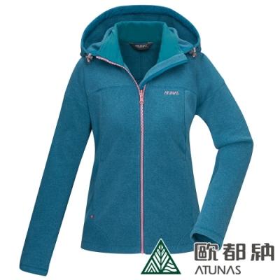 【ATUNAS 歐都納】女款PRIMALOFT保暖外套A1GA2018W湖綠/抗風透氣/科技保溫棉抗潮/輕盈柔軟