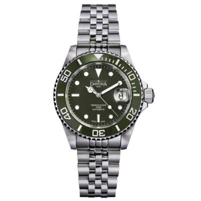 DAVOSA New Ternos Ceramic 200米水鬼系列陶瓷框潛水腕錶-綠水鬼/40mm