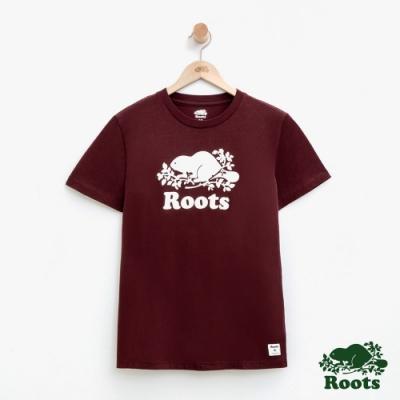 女裝Roots- 庫柏海狸短袖T恤-紅色
