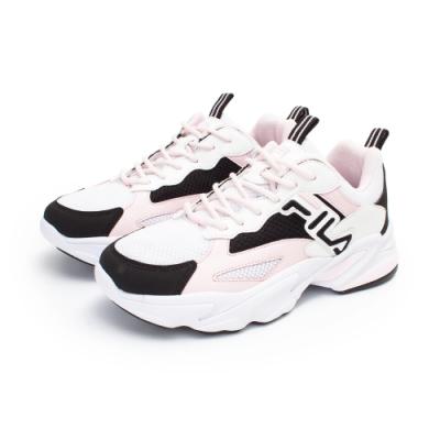 【FILA】BEATS TRACER 復古慢跑鞋 女鞋-白(5-J526U-150)