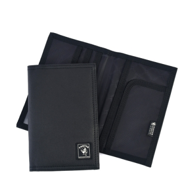 PORTER - 帆布護照套 - 黑色