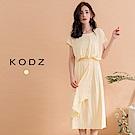東京著衣-KODZ 氣質修身波浪襬棉質洋裝(共一色)