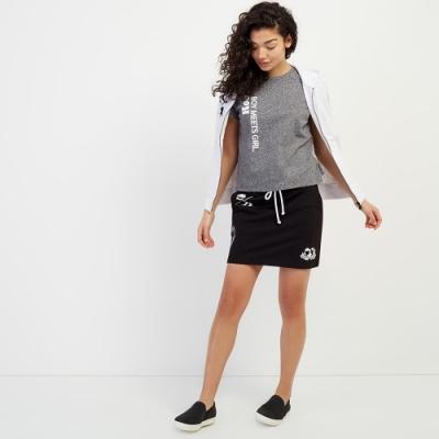 女裝ROOTS- 情人節聯名款TOGETHER短版T恤-灰色