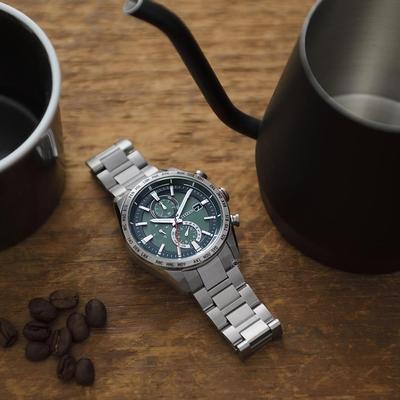 CITIZEN 星辰 GENTS系列 商務光動能電波手錶-AT8181-63W