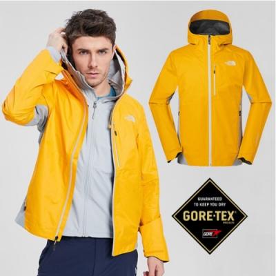 The North Face 男新款 GORE-TEX 防水透氣耐磨可調節連帽外套_橙 N