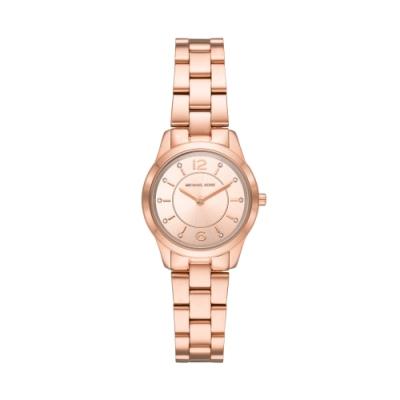 MICHAEL KORS簡約質感玫瑰金腕錶MK6591