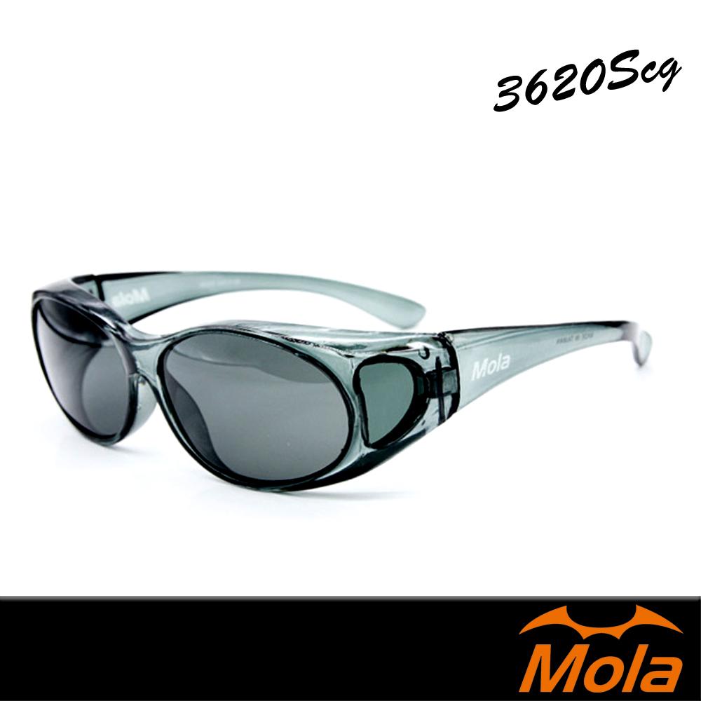 MOLA摩拉偏光太陽眼鏡/套鏡/墨鏡  小臉 男女 近視可戴-3620Scg