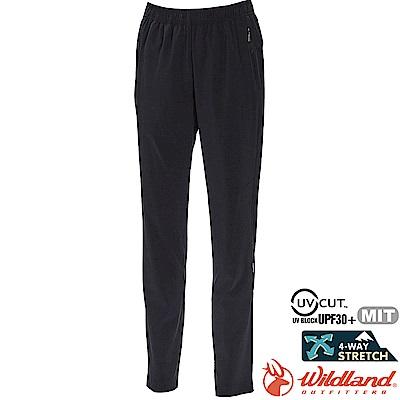 Wildland 荒野 0A71317-54黑色 女透氣抗UV運動長褲