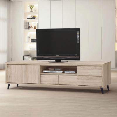 MUNA 寶雅橡木7尺電視櫃/長櫃(187) 212X39X45cm
