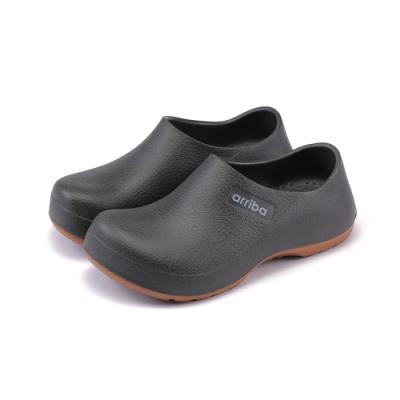 ARRIBA艾樂跑男女鞋-輕量防水廚師鞋-黑(61498)