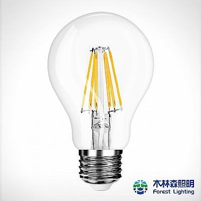 木林森 LED燈絲燈泡6.5W亮度燈泡色4入
