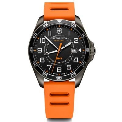 VICTORINOX 維氏 FieldForce系列 異地穿梭者 兩地時間腕錶 VISA-241897/42mm
