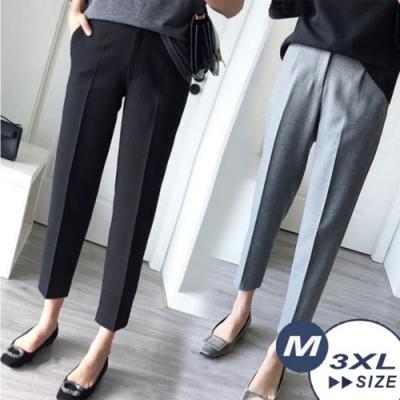 【LANNI 藍尼】OL修飾腿型煙管西裝褲-2色(M-3XL)●