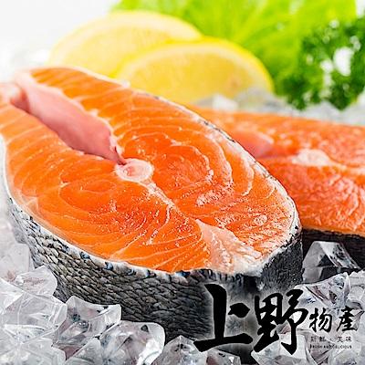 上野物產-智利野生XL鮭魚厚切(390g±10%/片)x10片