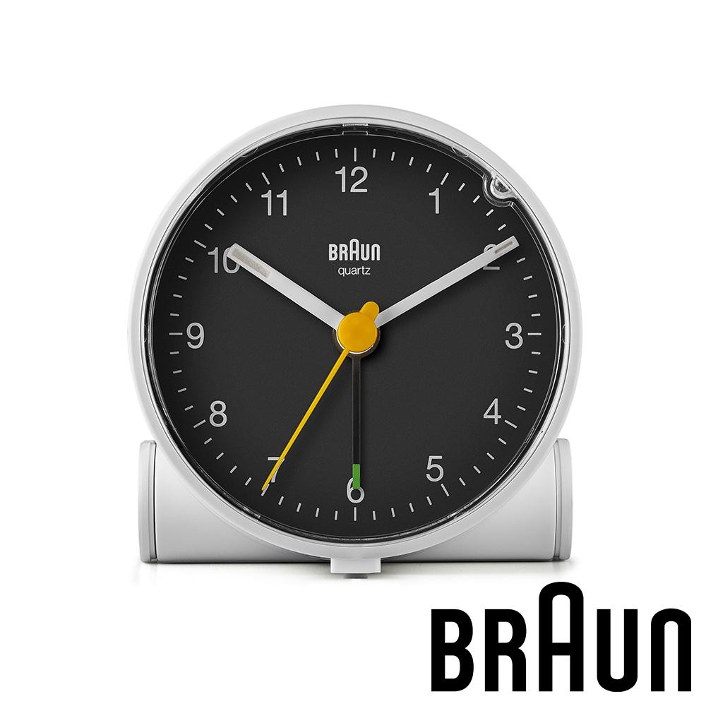 德國百靈 BRAUN 經典復古版圓形鬧鐘 (BC01WB)-白黑雙色