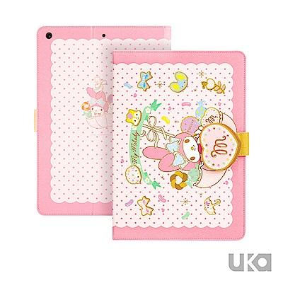 三麗鷗 iPad 2018 9.7吋 智能休眠可立式磁扣保護套-糖果美樂蒂