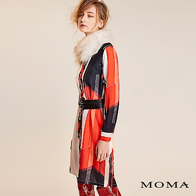 限時商品 | MOMA 抽象幾何雪紡洋裝