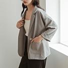 IN SHOP質感單扣口袋反摺袖西裝外套-共2色