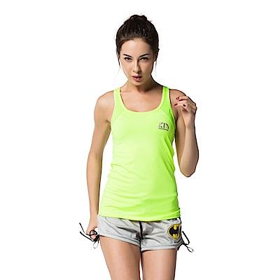 【KissDiamond】科技排汗超透氣運動背心-螢光綠