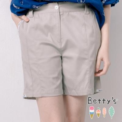 betty's貝蒂思 口袋邊壓小貝羊織帶短褲(中灰)