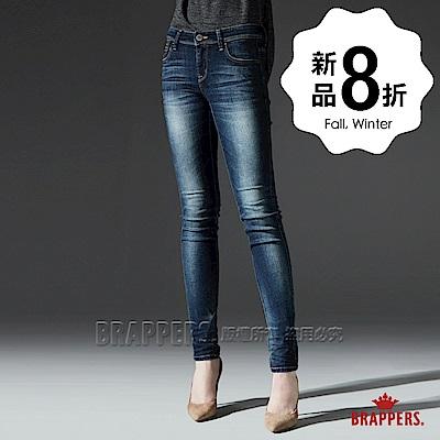 BRAPPERS 女款 新美腳ROYAL系列-中低腰彈性合身顯瘦窄管褲-藍