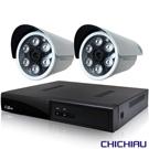 奇巧 4路五合一 5MP台製數位監控主機-含SONY 1080P監視攝影機*2