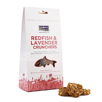 海洋之星FISH4DOGS-全天然健康點心-薰衣草紅魚脆餅75g