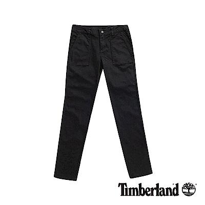Timberland 女款黑色超彈力修身休閒長褲|B2204